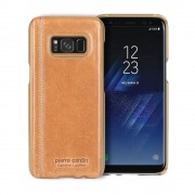 Pierre cardin cover Samsung Galaxy S8+ ægte læder brun, Mobil tilbehør
