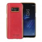 Til Samsung Galaxy S8 rød cover Pierre Cardin ægte læder, Samsung S8 tilbehør