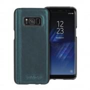 Samsung Galaxy S8 cover Pierre Cardin design ægte læder grøn, Samsung S8 tilbehør