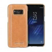 Samsung Galaxy S8 cover brun Pierre Cardin ægte læder, Samsung S8 tilbehør