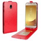 Galaxy J5 2017 vertikal flip cover rød Mobilcovers