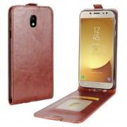 Galaxy J5 2017 vertikal flip cover brun Mobilcovers