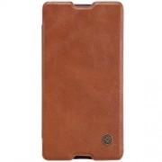 SONY XPERIA M5 læder cover i business stil, brun Mobiltelefon tilbehør