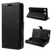 sort Flip etui med lommer Sony XZ1 Compact Mobil tilbehør