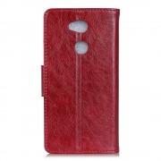 Klassisk læder cover rød Sony xperia L2 Mobilcovers