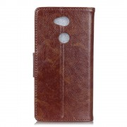 Klassisk læder cover brun Sony xperia L2 Mobilcovers