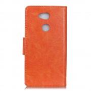 Klassisk læder cover orange Sony xperia L2 Mobilcovers