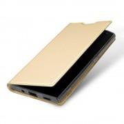 Slim flip cover guld Xperia XA2 ultra Mobilcovers