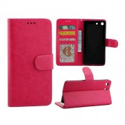 SONY XPERIA M5 læder pung cover, rosa Mobiltelefon tilbehør