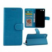 SONY XPERIA M5 læder pung cover, blå Mobiltelefon tilbehør