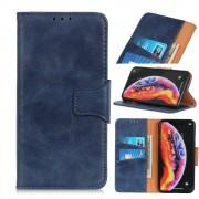 blå Elegant læder etui Sony Xperia 5 Mobil tilbehør