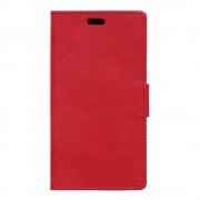 SONY XPERIA E5 cover full grain læder rød Leveso Mobil tilbehør