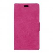 SONY XPERIA E5 cover full grain læder rosa Leveso Mobil tilbehør