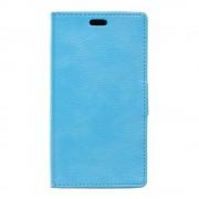 SONY XPERIA E5 cover full grain læder blå Leveso Mobil tilbehør