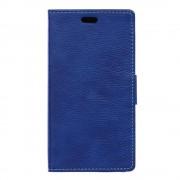 SONY XPERIA E5 cover full grain læder mørkeblå Leveso Mobil tilbehør