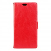 SONY XPERIA X læder cover med kort lommer rød, Mobiltelefon tilbehør