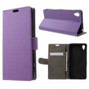 SONY XPERIA X PERFORMANCE cover - etui lilla Leveso Mobil tilbehør