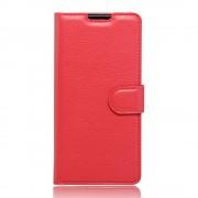 SONY XPERIA XA cover med lommer rød Leveso Mobil tilbehør