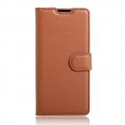 SONY XPERIA XA cover med lommer brun Leveso Mobil tilbehør