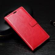 SONY XPERIA X PERFORMANCE læder cover med lommer rød, Mobiltelefon tilbehør