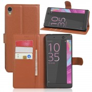 SONY XPERIA XA ULTRA etui - cover m lommer brun Mobiltelefon tilbehør