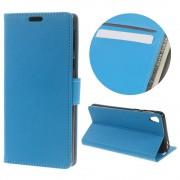 SONY XPERIA E5 cover med kort lommer blå Leveso Mobil tilbehør