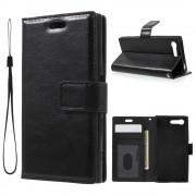 Sony Xperia X Compact etui med lommer sort Mobiltelefon tilbehør