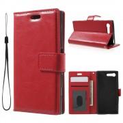 Til Sony Xperia X Compact etui med lommer rød Mobiltelefon tilbehør