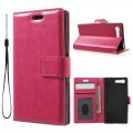 Sony Xperia X Compact etui med lommer rosa