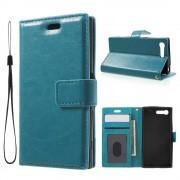 Til Sony Xperia X Compact blå etui med lommer Leveso.dk