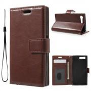 Brun taske til Sony Xperia X Compact med lommer Mobiltelefon tilbehør