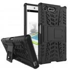 Sony Xperia X Compact bagcover hybrid sort Mobiltelefon tilbehør