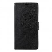 Sony Xperia X Compact etui grain læder sort Mobiltelefon tilbehør