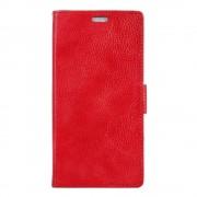 Sony Xperia X Compact etui grain læder rød Leveso.dk
