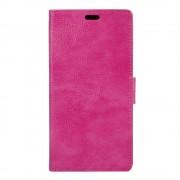 Til Sony Xperia X Compact rosa cover etui grain læder Mobiltelefon tilbehør