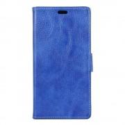 Sony Xperia X Compact etui grain læder mørke blå Mobiltelefon tilbehør