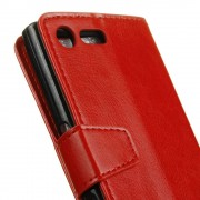 Flip cover Sony Xperia XZ premium med lommer rød Mobilcovers