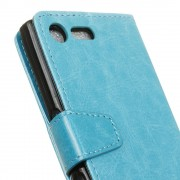 Flip cover Sony Xperia XZ premium med lommer blå Mobilcovers