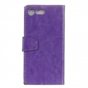 Flip cover Sony Xperia XZ premium lilla med lommer Mobilcovers