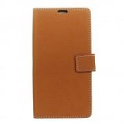 til Sony Xperia XA1 flip cover med lommer brun Mobilcovers