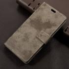 Sony Xperia L1 flip cover i retro stil khaki Mobilcovers