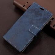 Sony Xperia L1 flip cover i retro stil blå Mobilcovers