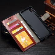 Vilo brun læder flip cover Sony xperia L1 Mobilcovers