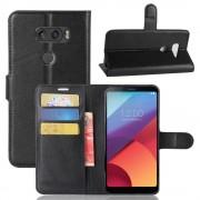Vilo flip cover med lommer sort LG V30 Mobilcovers