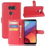 Vilo flip cover med lommer rød LG V30 Mobilcovers