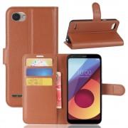 Vilo flipcover med lommer brun LG Q6 Mobilcovers