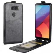 Vertikal flip cover sort LG V30 Mobilcovers