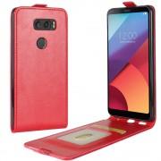 Vertikal flip cover rød LG V30 Mobilcovers