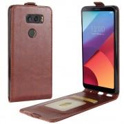 Vertikal flip cover brun LG V30 Mobilcovers