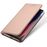 Slim flip cover med lomme rosaguld LG V30 Mobilcovers